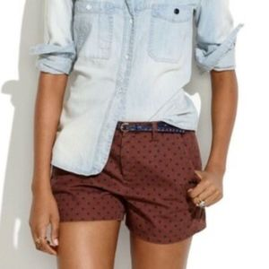 New Madewell Tailored Shorts in Polka Dot